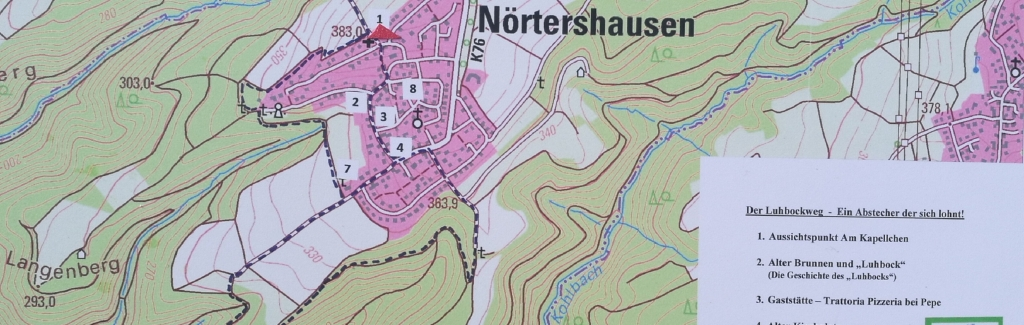 Kartenausschnitt von Nörtershausen